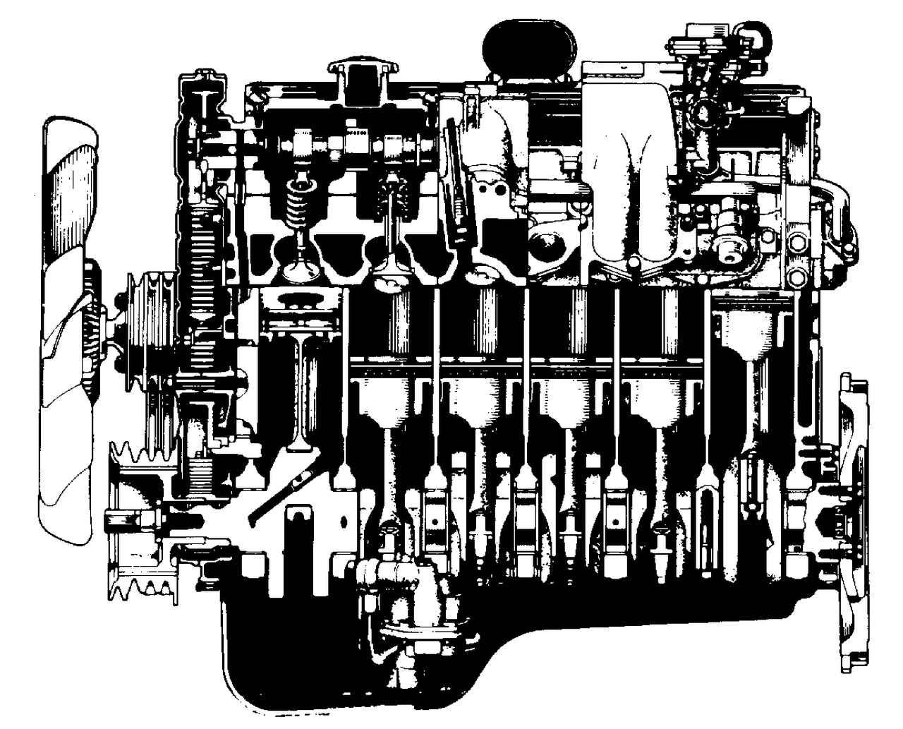 画像: チェーンに代わってタイミングベルトでカムシャフトを駆動。高級車に相応しい低騒音・低振動のDOHCエンジンとなった。