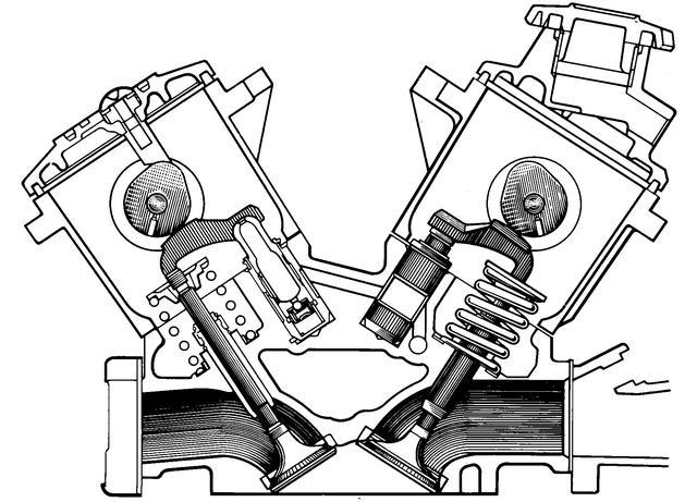 画像: ラッシュアジャスターを世界で初めてDOHCエンジンに採用。吸排気弁のすき間をスプリングと油圧で自動的に調整することで、カムとバルブがぶつかるときの騒音が軽減されたと同時にタペット調整不要のメンテナンスフリーも実現された。