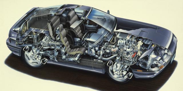画像: コンパクトなロータリーエンジンだからこそ実現出来た完全なフロントミッドシップだ。