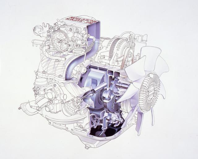 画像: 1983年10月、吸気管の中を流れる空気の密度の変化を利用して充填効率を高める「ダイナミック過給」が初めて採用された13BーSIが登場。スロットルチャンバーと吸気管のあいだにダイナミックチャンバーを設けて吸気管長を延長し、音速で伝わる圧力波がタイミング良くポートに到着するように設計されている。