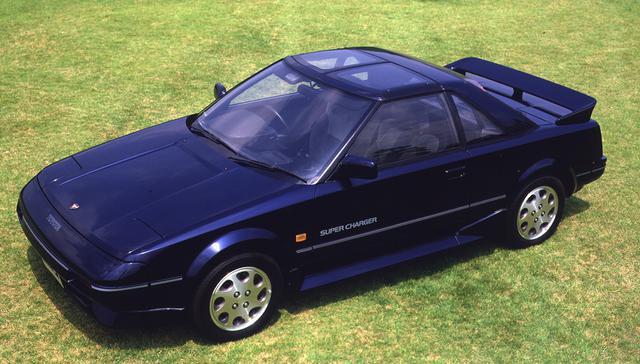 画像: 1986年8月に追加発売されたAW11型MR2スーパーチャージャー。