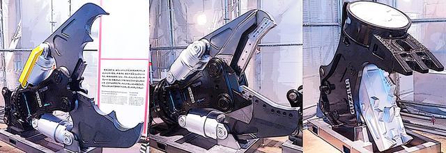 画像: 油圧ショベルが一般名称だが、実際にはハサミやニッパのように切断/破断、ペンチやマジックハンドのように掴む、金属を吸着させるなど、さまざまなアタッチメントがある。