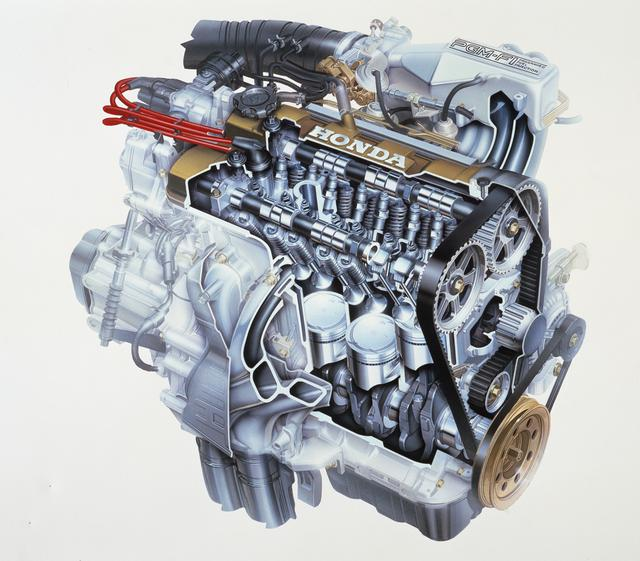 画像: DOHCでありながらF1テクノロジーの導入でコンパクトなヘッドまわりを実現したZC。F1用のRA-163E型エンジンを彷彿とさせるレーシーなヘッドカバーデザインもライバルたちとは一線を画した。