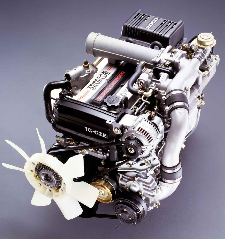 画像: 重量級のクラウン用に低速域トルクを補うスーパーチャージャーを装着した1G-GZEU型が開発された。