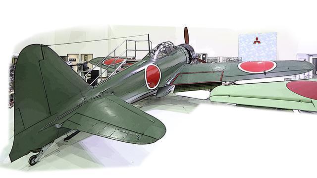 画像: この零戦52型と雷電を比較すると、胴体のボリュームが大きく異なる。零戦に中型機用の金星(三菱)エンジンを積む計画があったが、エンジン工場が空襲に遭い叶わなかった。
