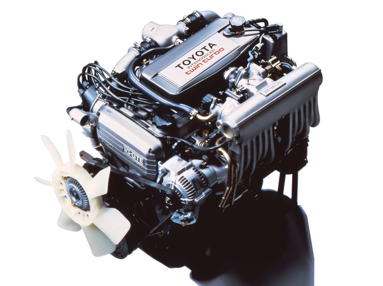 画像: 1G-GTEU型は24バルブDOHCへッドとツインターボの組み合わせ。クルマ好きにはたまらないハイスペックだった。