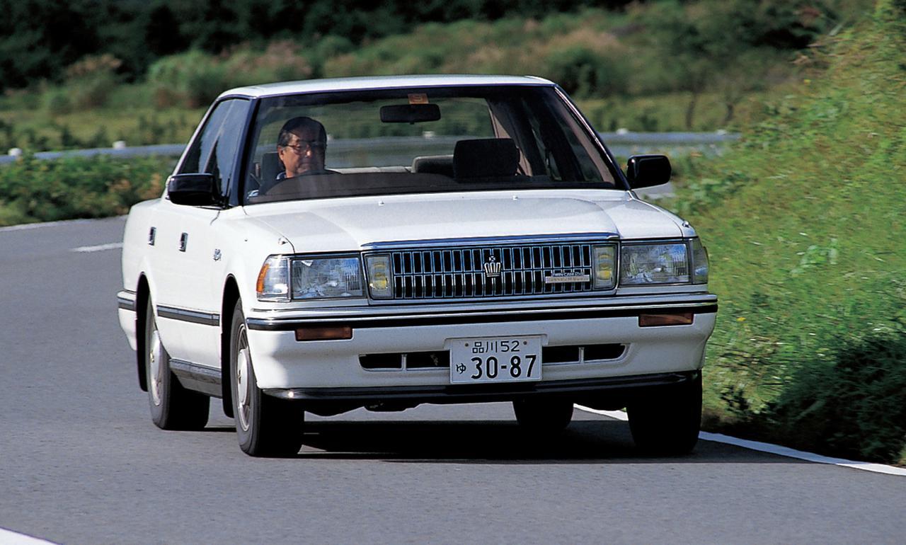 画像: 低速トルクを増強するため日本で初めてスーパーチャージャーを採用したDOHCエンジンを搭載した7代目GS120型クラウン。