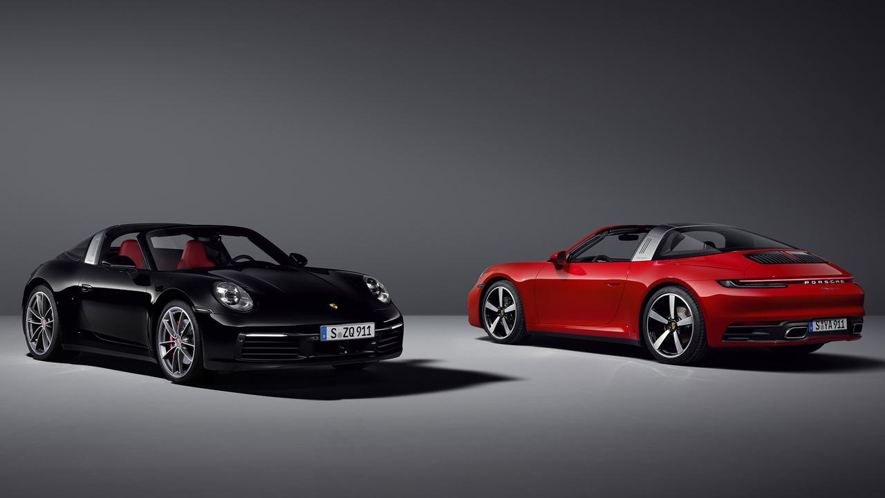 画像: 今回発売されたポルシェ911タルガはいずれも4WDモデル。左はタルガ4S、右がタルガ4。