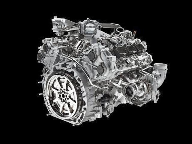 画像: マセラティの伝統で、V6だがバンク角は90度となっている。