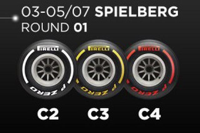 画像: オーストリアGPで供給されるタイヤセット。中間の3種類が選択された。今シーズンはスケジュールの混乱もあって、ドライバーによるタイヤ選択は実施されず、すべてのドライバーに同じタイヤが供給される。