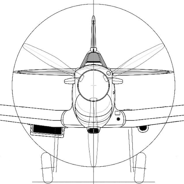 画像: マーリンV型エンジンを逆卵型のカバーで覆うデザイン。全体に丸みと余裕があり、P-51とともに大戦後まで基本は同じ。