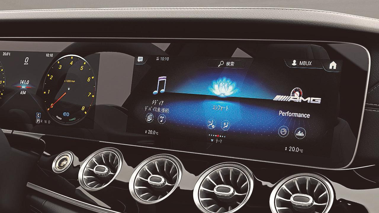 画像: 12.3インチのワイド画面を運転席(メーターパネル)とセンターコンソールにふたつ配置する。