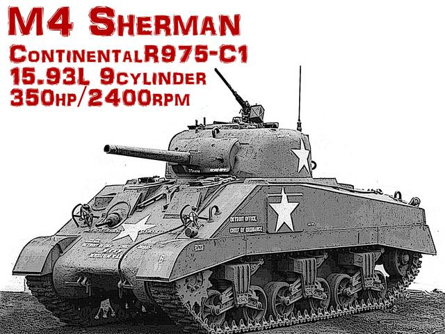 画像: ドイツのタイガー&パンサー戦車、ソビエトのT-34と並び有名なアメリカのM4シャーマン。お世辞にもカッコイイとは言えないこの戦車は、アメリカ的合理主義の塊だ。