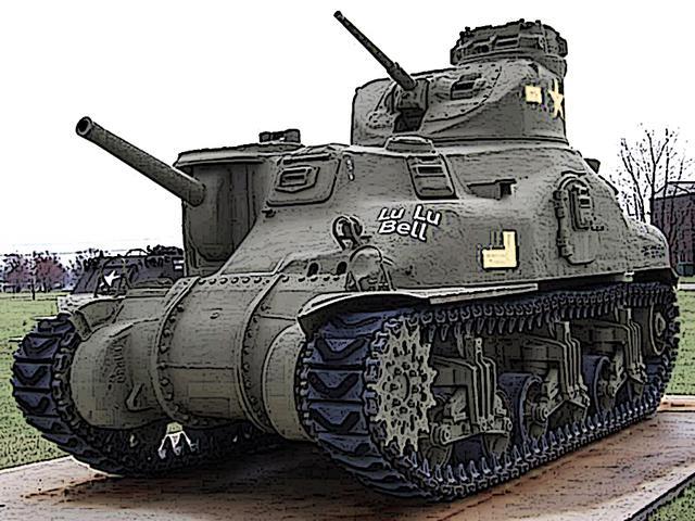 画像: 先にR975-C1エンジンを搭載した、先代のM3リー中戦車。M4の原型であることがわかる。じつは、さらに先代のM2中戦車から基本設計は変わっていない。