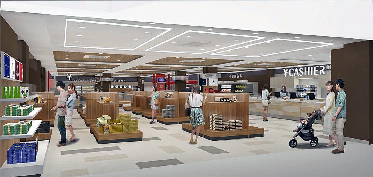 画像: 西側ショッピングコーナー「SASTAR 1」のイメージ。