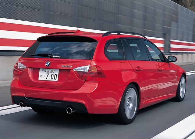 画像: BMW 335iツーリング。3L直6直噴ツインターボエンジンを搭載。試乗車はMスポーツパッケージを装備。