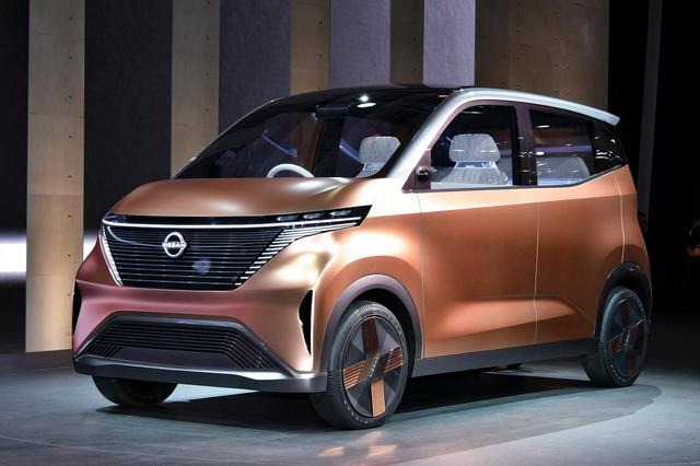 画像: 東京モーターショー2019で初公開されたニッサン IMk。ボディサイズは軽自動車規格を10%ほどオーバーしているが、市販モデルは規格内におさめられるだろう。