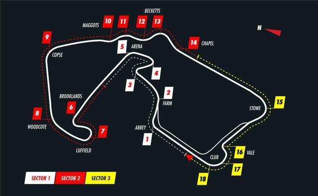 画像: 第4戦、第5戦が連続して開催されるイギリス・シルバーストンサーキットのコースレイアウト。名うての超高速サーキットとして知られる。