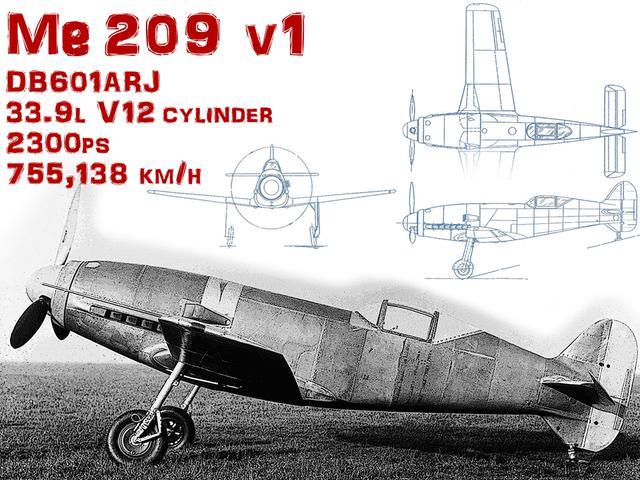 画像: タイトル画像:1938年、速度記録専用機メッサーシュミットMe209V1は、755km/hという、その後30年間も破られなかった公認速度記録をたたき出した。