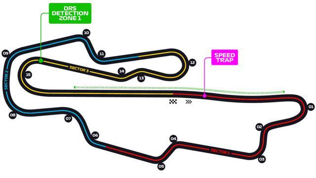 画像: ムジェロサーキットのコース図。高速レイアウトだが、アップダウンがあり、モンツァとはかなり違うという声もある。