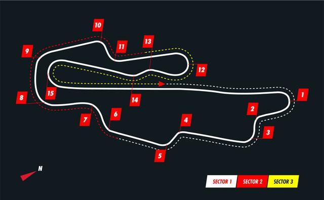画像: ムジェロサーキットのコース図。F1では2コーナーから9コーナーまでほぼ全開となる。モンツァとはまだ異なる高速コース。