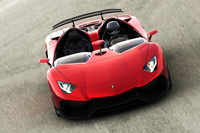 画像: ルーフとウィンドスクリーンを取り払った、常識破りのオープンスーパースポーツカー「アヴェンタドールJ」。2011年。
