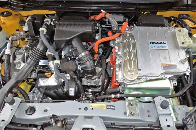画像: 1.5Lの直3エンジンで発電して、129ps/260Nmを発生するモーターで前輪を駆動するe-パワーを搭載。