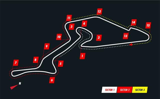 画像: ニュルブルクリンクのGPコースのレイアウト。全長5148m。北コースと比べて、コース幅、ランオフエリアは広い。