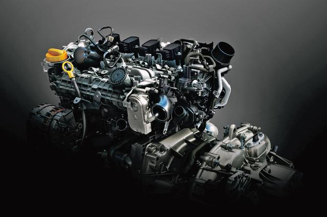 画像: ルノー/日産/三菱のアライアンスで開発された、1.3Lの直噴ターボエンジン。