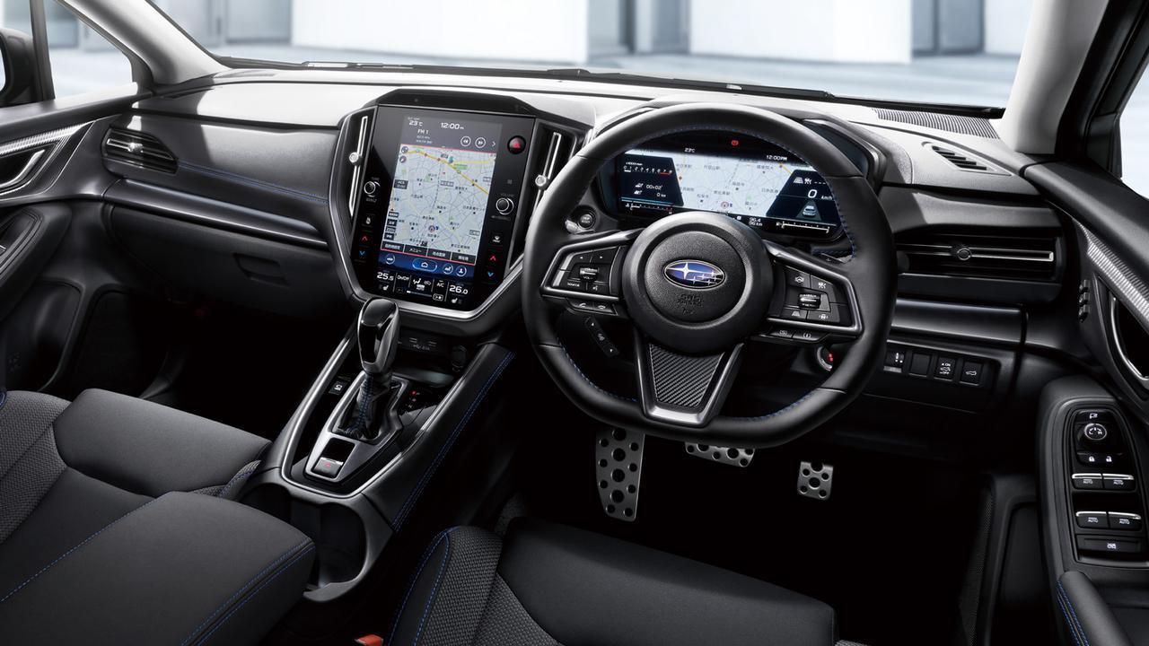 画像: 新型レヴォーグ GT-H EXのコクピット。12.3インチのメーターディスプレイと11.6インチのセンターディスプレイを備える。