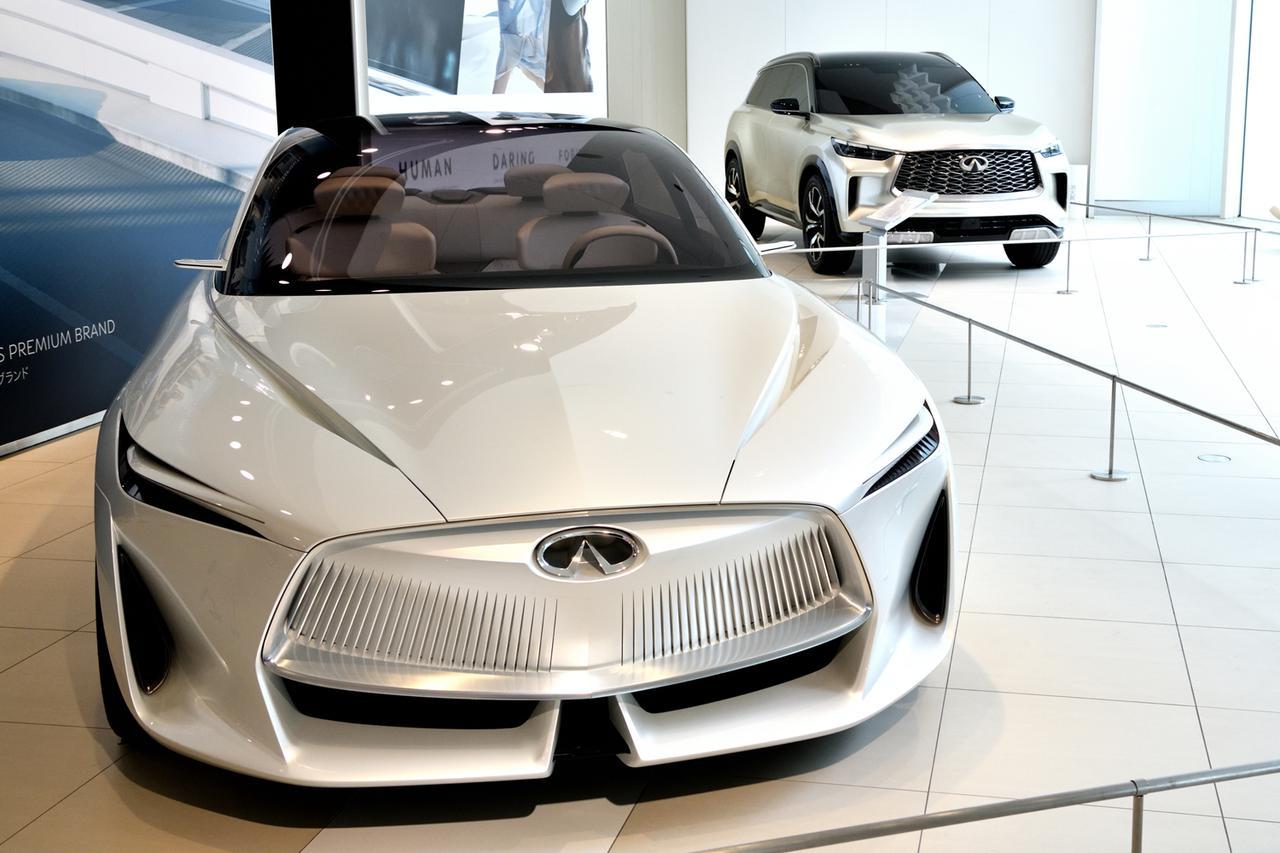 画像: 日産グローバル本社ギャラリー内に開設された「インフィニティラウンジ」。