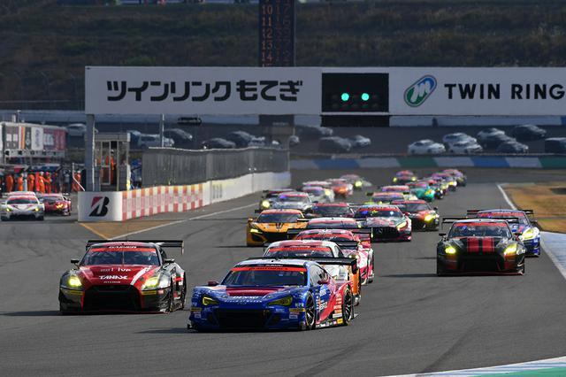 画像: レーススタート、今季初となるBRZのホールショット。