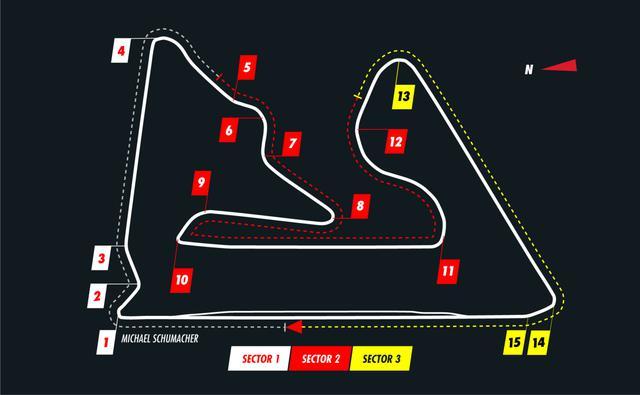 画像: バーレーンGPで使用されるバーレーン・インターナショナル・サーキットのコース図。