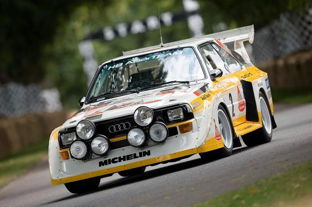 画像: 1980年代にWRCを席巻したアウディの4WD、クワトロシステムを採用したラリーカー。写真はアウディ スポーツ S1。