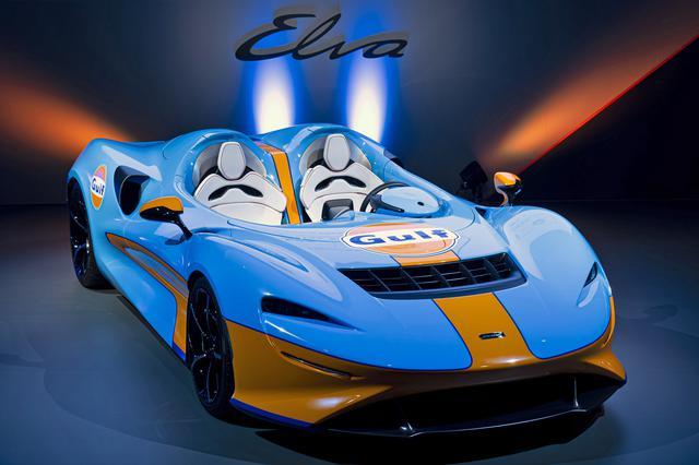 画像: ブルーとオレンジのガルフ カラーがエルバに良く似合っていた。
