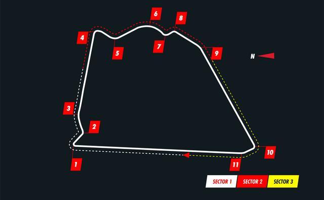 画像: サヒールGPが行われるアウタートラックのコース図。ターン3まではバーレーンGPで使用されたものと同じだが、そこから中速コーナーの続く外周へ入り、通常レイアウトのターン13へと戻ってくるコースとなる。