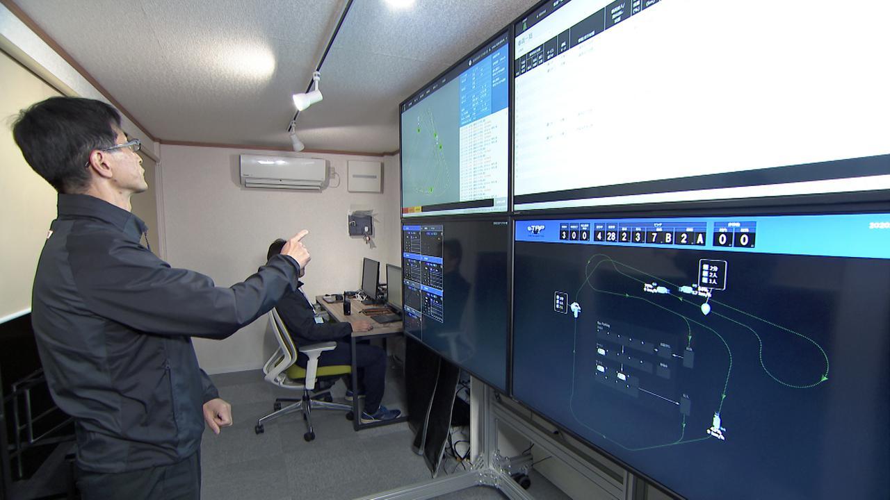 画像: コントロールセンターの内部