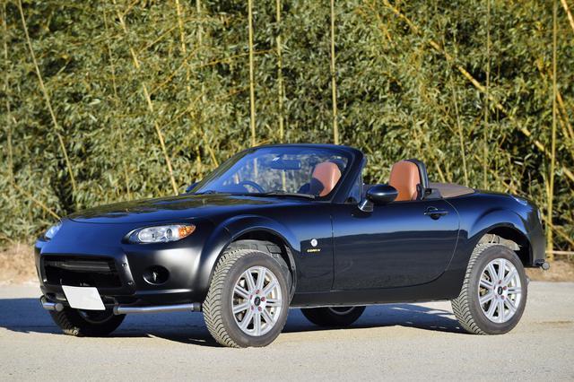 画像: 取材時はサスペンションで2cm、タイヤの外径で3cm、合わせて5cm車高をアップ。