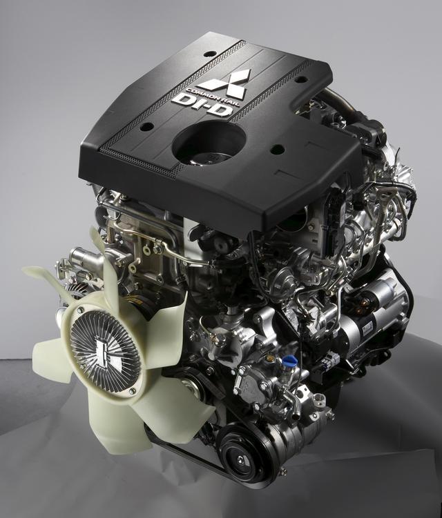 画像: 4M41型ユニットは直列4気筒ながら、3200ccという大排気量としたディーゼルターボエンジンだ。