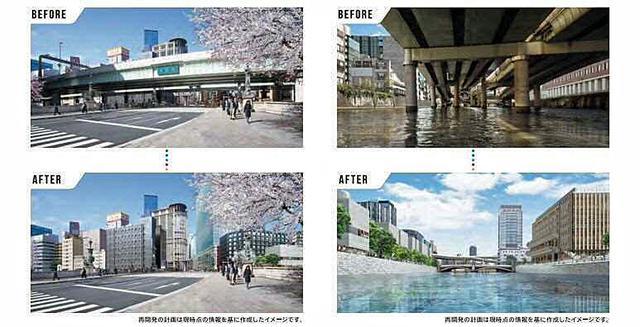 画像: 首都高速 日本橋区間地下化事業のイメージ。