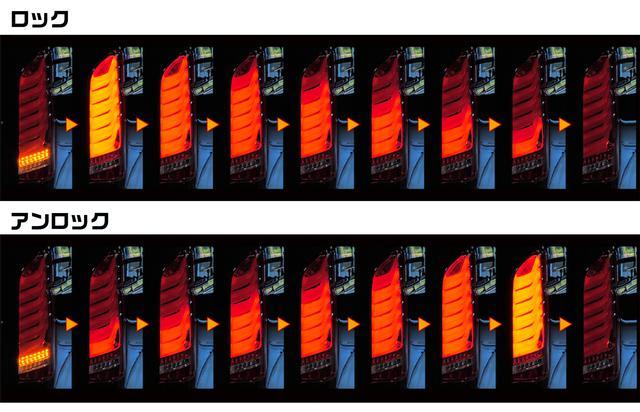 画像: 「オープニング&エンディングアクション」機能を搭載。リモコンのドア開閉ボタンでテールランプに光が舞う。