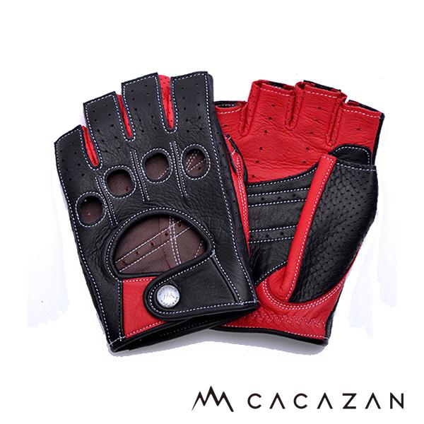 画像: CACAZANドライビンググローブ DDR-071R ブラック レッド-モーターマガジン Web Shop