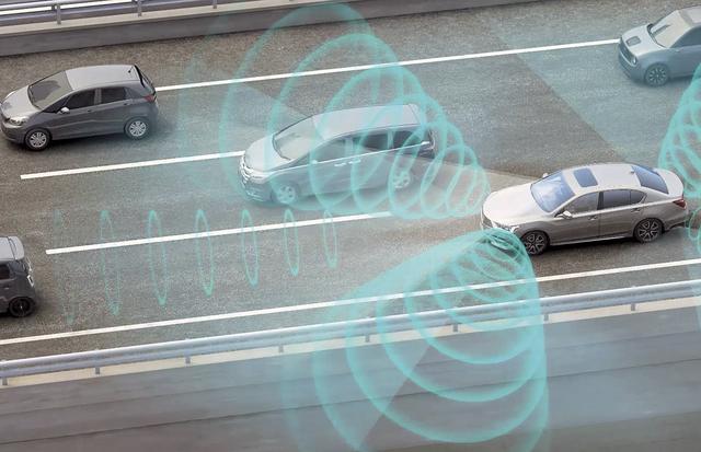 画像: トラフィックジャム パイロットで渋滞路を自動運転中のイメージ。