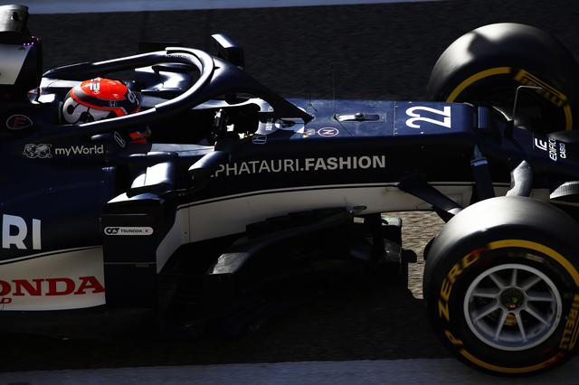 画像: テスト2日目、異なるタイヤコンパウンドを試しながら、順調に走行を重ねた角田裕毅。