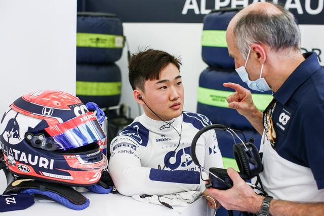 画像: テスト3日目、各チームがタイムアタックを行う中で、見事に2番手タイムをマークして見せた角田裕毅。