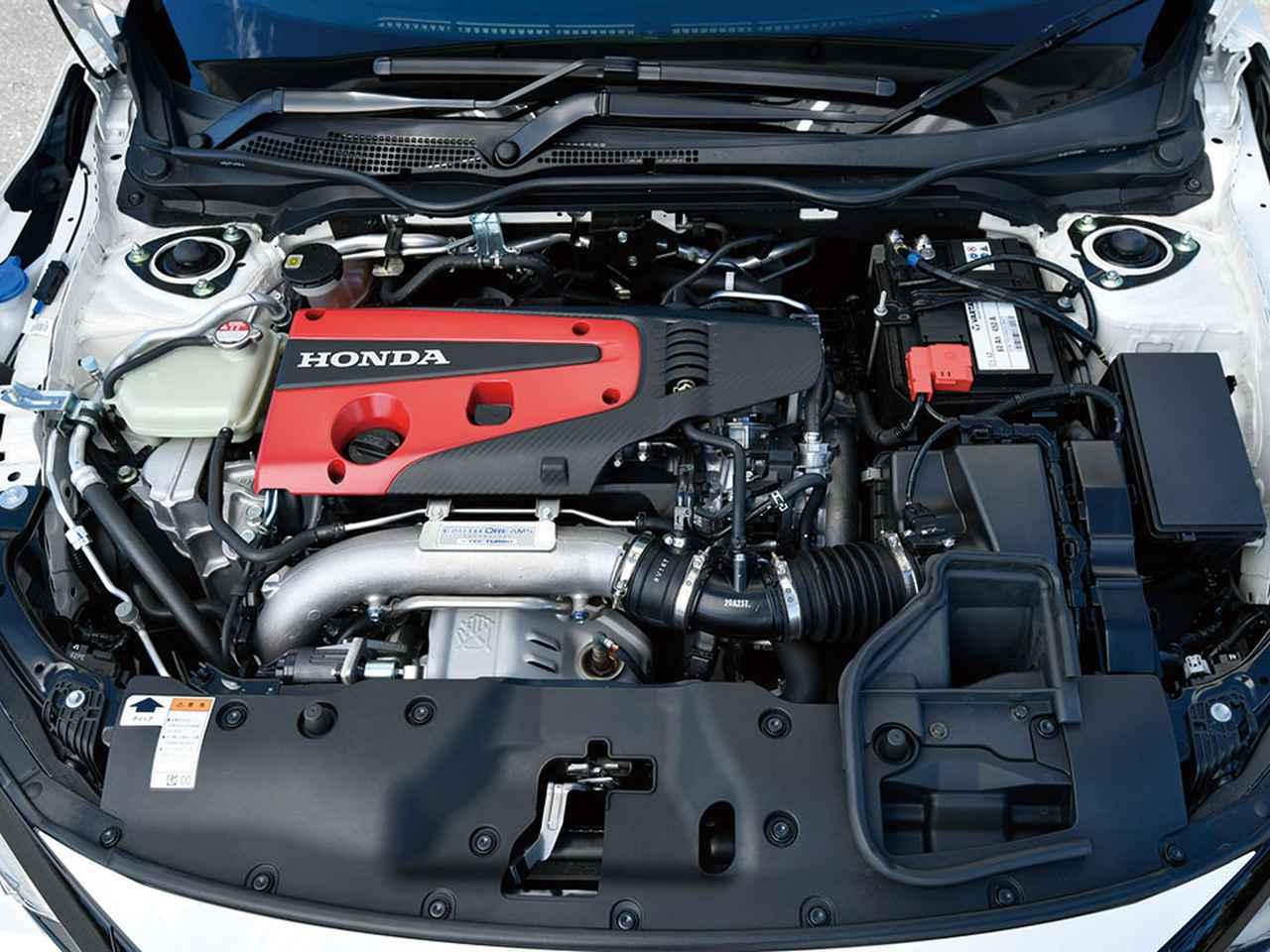 画像: 低慣性モノスクロールターボチャージャー、排気側VTEC、吸排気VTCなどによって強トルクと優れたレスポンスを実現している。(シビック タイプR)