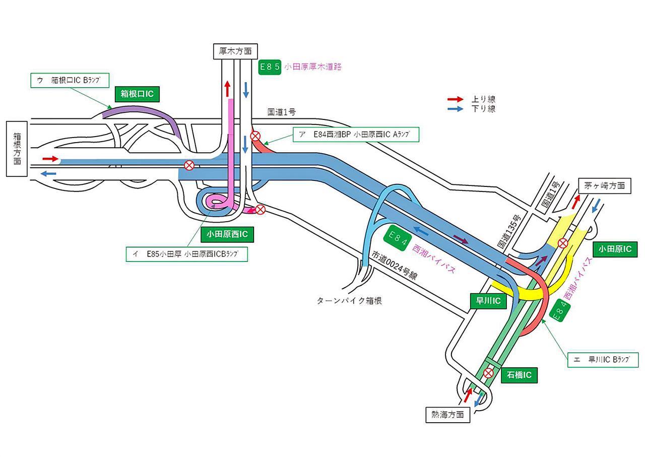 画像: 工事による通行規制箇所