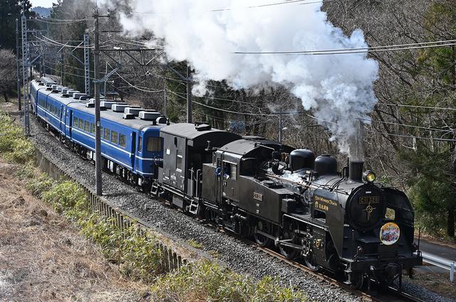 画像: SL大樹 東武鉄道 下今市駅 - 鬼怒川温泉駅間土休日を中心に1日2往復運行されている。(2021年3月現在)3両の客車を牽引するのはC11形蒸気機関車207及び325号機。鬼怒川、日光地域の活性化および観光需要の喚起という役目を担う。