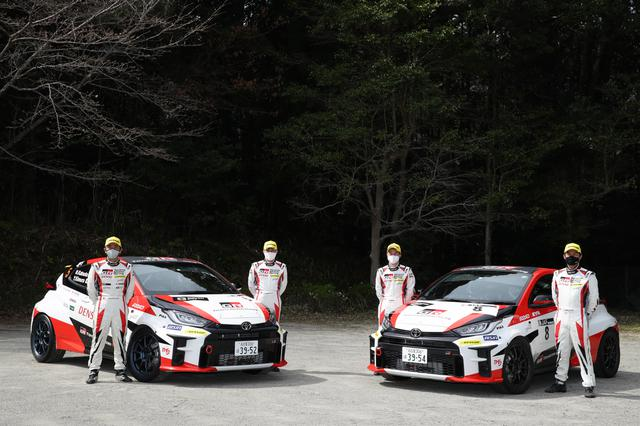 画像: TOYOTA GAZOO Racingは2台体制で参戦。勝田範彦/木村裕介組(左)と眞貝知志/安藤裕一組。