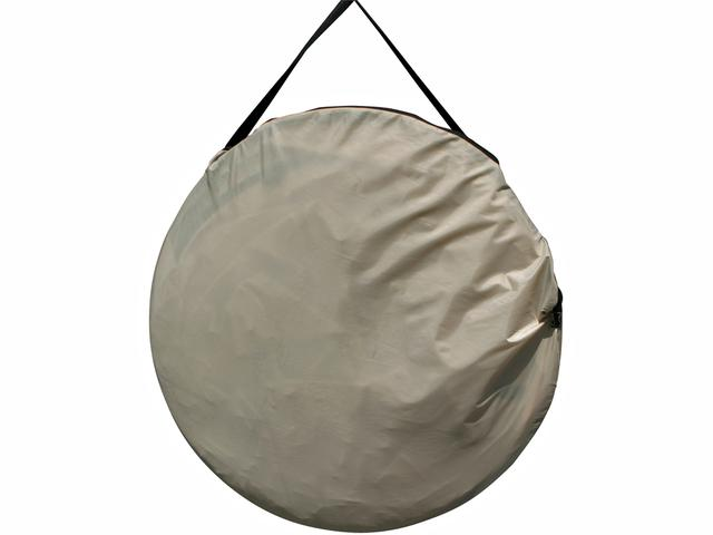 画像: 持ち運びに便利なキャリーバッグも付属。たためば直径は70cm弱とコンパクト。